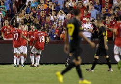 Manchester United le gan� a Barcelona